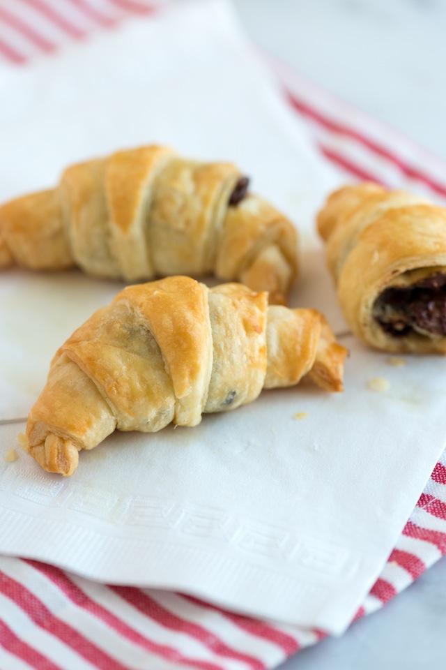 Recetas de Navidad a la Carta - Croissants Rellenos de Chocolate